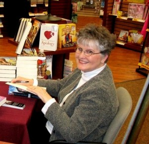 Kathy at Booksigning